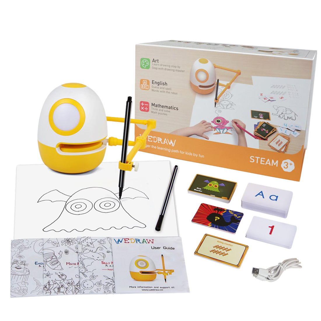 Wedraw Eggy New Children Inductive Intelligence Drawing Robot Genius Kit Early Learning Educational Tech Toys For Christmas Gift