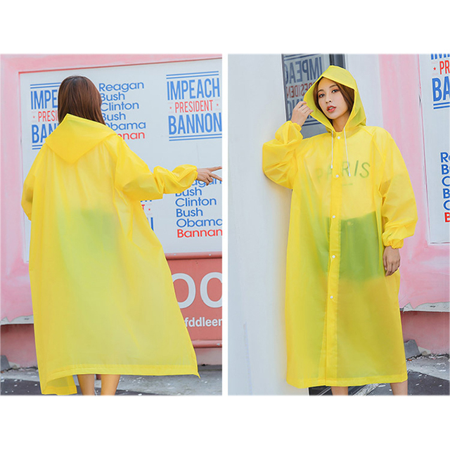 Rain Coat EVA Rain Poncho for Women and Men Emergency Rain Gear Jacket for Theme Park Hiking Camping CLH@8 6