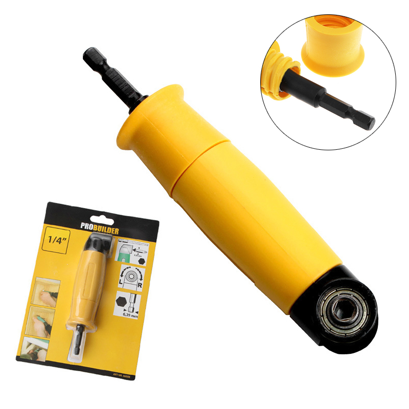 90 Degree Bit Electric Screwdriver Drill Turning Device Angle Adapter Bit Corner Screwdriver Corner Easily Locks For Repairing