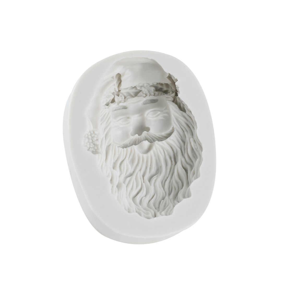 סיליקון תבניות עבור שרף סנטה קלאוס עובש 3d קיר פנל עיצוב DIY UV בטון תכשיטי אביזרי יצק חימר עובש