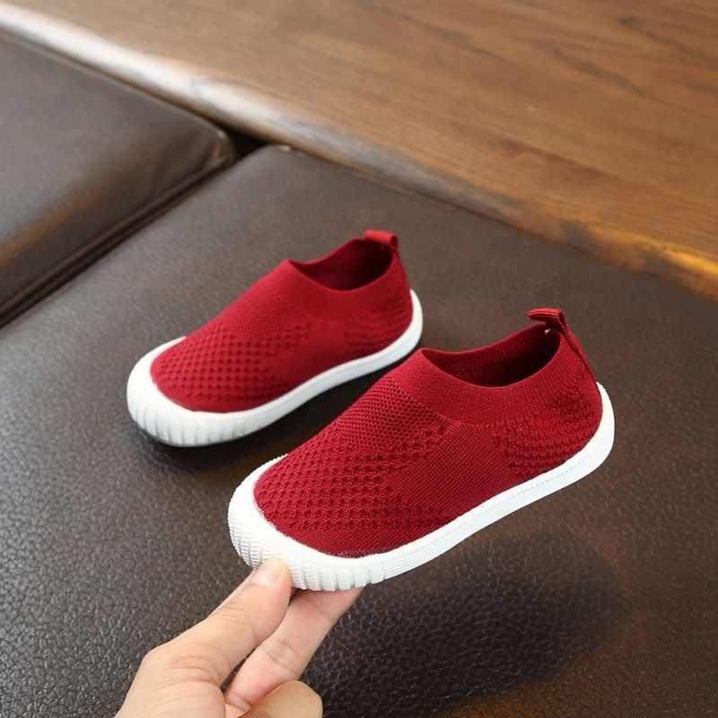 Sonbahar yeni moda net nefes eğlence spor koşu ayakkabıları kızlar için ayakkabı erkek marka çocuk ayakkabı