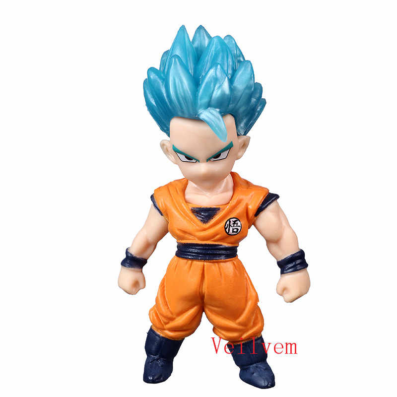 1 pçs/lote Mini Dragon Ball Z Super Saiyan Goku Son Gohan figura chichi lazuli Estatueta dragonball trunks vegeta freeza brinquedos