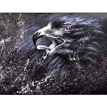 цена на 100% Hand Painted Eagle Carving Art Oil Painting On Canvas Wall Art Wall Adornment Pictures Painting For Live Room Home Decor