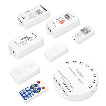 WS2812B taśmy Led kontroler światła Wifi Bluetooth SP110E SP601E Wifi SP108E muzyki SP107E SP601E WS2811 SK6812 sterownik światła tanie i dobre opinie Excellux CN (pochodzenie) Wireless Control Led controller rgb led controller 20 meter Kontroler RGB plastic ws2812 ws2812b sk6812 tx1812 strip