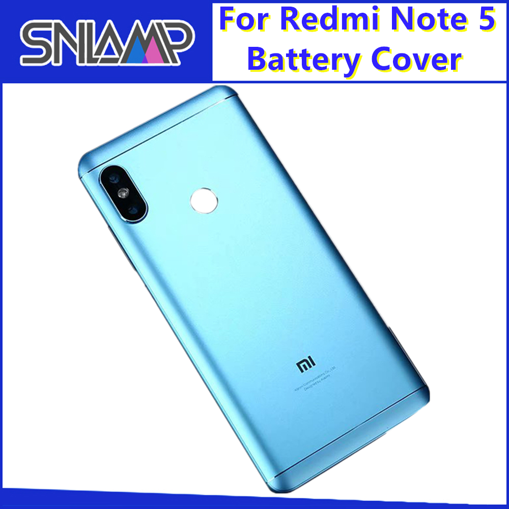 Original For Xiaomi <font><b>Redmi</b></font> <font><b>Note</b></font> <font><b>5</b></font> <font><b>Pro</b></font> Metal <font><b>Battery</b></font> <font><b>Cover</b></font> Housing Replacement Parts <font><b>redmi</b></font> <font><b>note</b></font> <font><b>5</b></font> Back <font><b>Cover</b></font> With Lens Buttons image