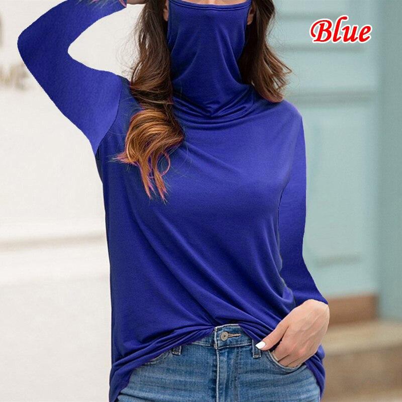 Купить женская водолазка футболка свободного покроя с длинным рукавом