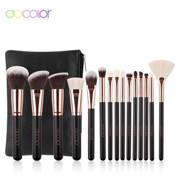 Docolor Classic Makeup Brushes Set Professional Natural Hair Make up brush with bag Eye Shadow Foundation Powder brush недорого