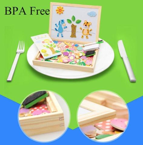 diy educacional kit caixa de madeira puzzle brinquedos