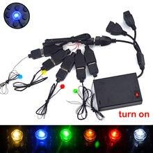 USB ışık yayan klasik tuğla yapı taşları Mini LED lambalar şehir sokak tek lamba pili kutusu uyumlu tüm markalar