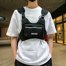 Fashion Chest Rig Bag For Men Waist Bag Hip hop streetwear functional Tactical Chest Mobile Phone Bags Male Casual