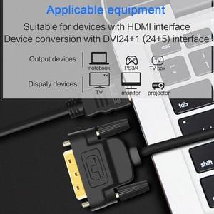 Image 3 - DVI To HDMI 1080P 3D HDMI To DVIสายHDMI DVI D 24 + 1พินอะแดปเตอร์สำหรับHDTV DVD XBOX PS4 3 HDMI To DVI Cable 1M 2M 3M 5M