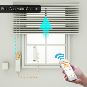 DIY Smart Motorized Chain Roller Blinds Shade Shutter Drive Motor Powered By Solar Panel and Charger Bluetooth APP Control