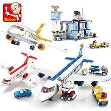 Avion Technik Fracht Flugzeug Flughafen Airbus Flugzeug Modell Bausteine Playmobil Figuren Stadt Brinquedos Educational Kinder Spielzeug
