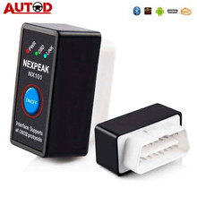 Автомобильный диагностический сканер NEXPEAK NX101 Elm327, Bluetooth V1.5, считыватель кодов двигателя, мини-сканер OBD2, автомобильный диагностический инст...