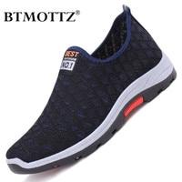 Zapatos informales de malla para Hombre, mocasines transpirables, ligeros, antideslizantes, para caminar, de verano