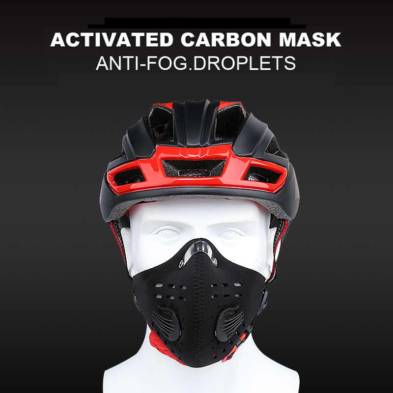 H056e7713cb7640528743ec7c74267008B X-Tiger Pro Cycling Face Mask With Filters Breathable Cycling Mask Activated Carbon Anti-Pollution Sport Training Bike Facemask