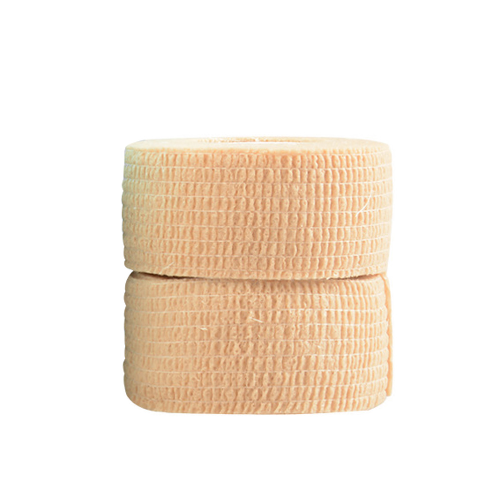 2.5cm X 4m Tape Wrap First Aid Strap Strapping Thumb Elastic Wrist Sports Protect Finger Self Adhesive EAB Fabric Stretch