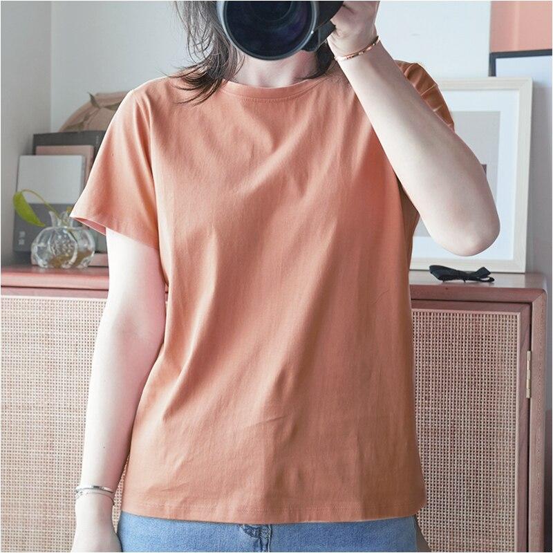 Футболка женская хлопковая, однотонная простая уличная мода, топ с коротким рукавом для мужчин и женщин, рубашка оверсайз, лето