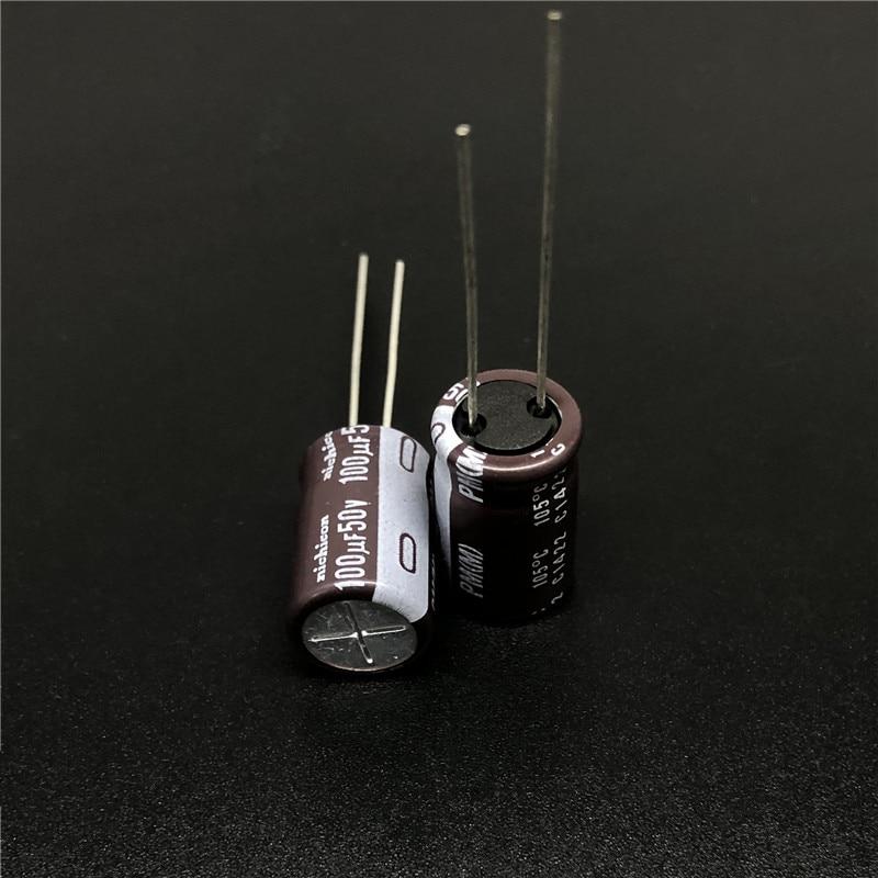 10pcs/100pcs 100uF 50V NICHICON PM Series 10x16mm 50V100uF Super Low Impedance Long Life Aluminum Electrolytic Capacitor