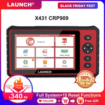 LAUNCH X431 CRP909 OBD2 Scanner Android 7.1 Car All System Diagnostic Tool ODBII Code Reader 7'in Scanner With 15 Reset Services launch x431 pro mini with bluetooth function full system 2 years free update online mini x 431 pro powerful auto diagnostic tool