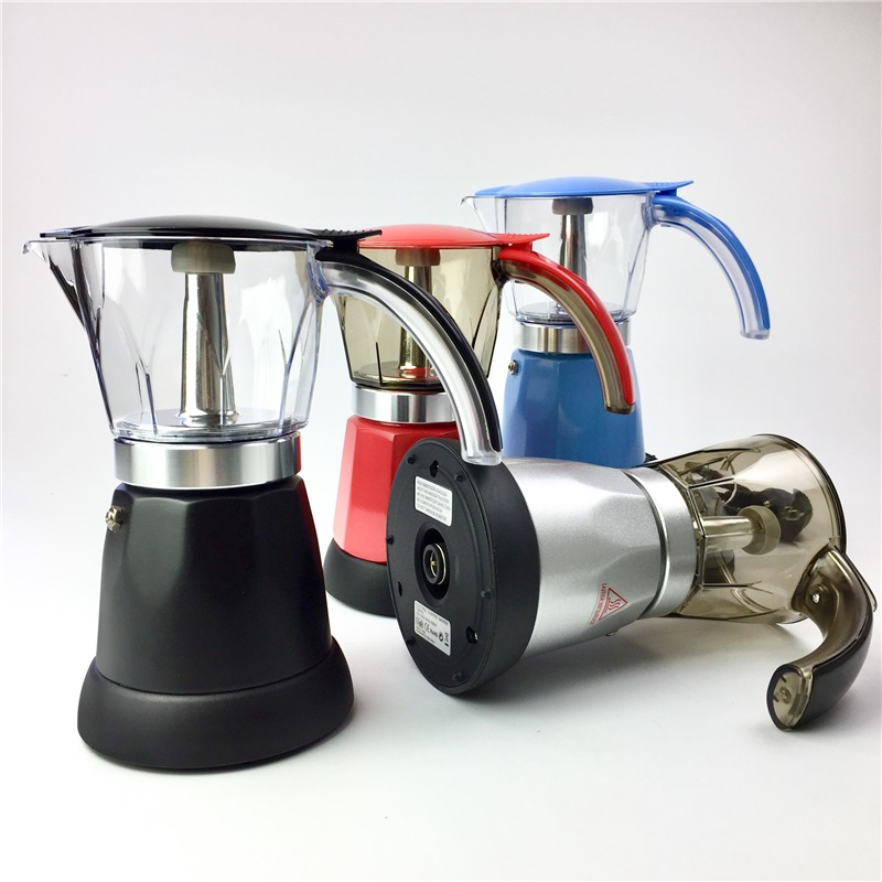 6cups 300ml Electric Espresso <font><b>Coffee</b></font> Maker Italian Moka <font><b>Coffee</b></font> Pot Percolator <font><b>Coffee</b></font> Moka Pot v60 Filters Mocha Coffe Machine image