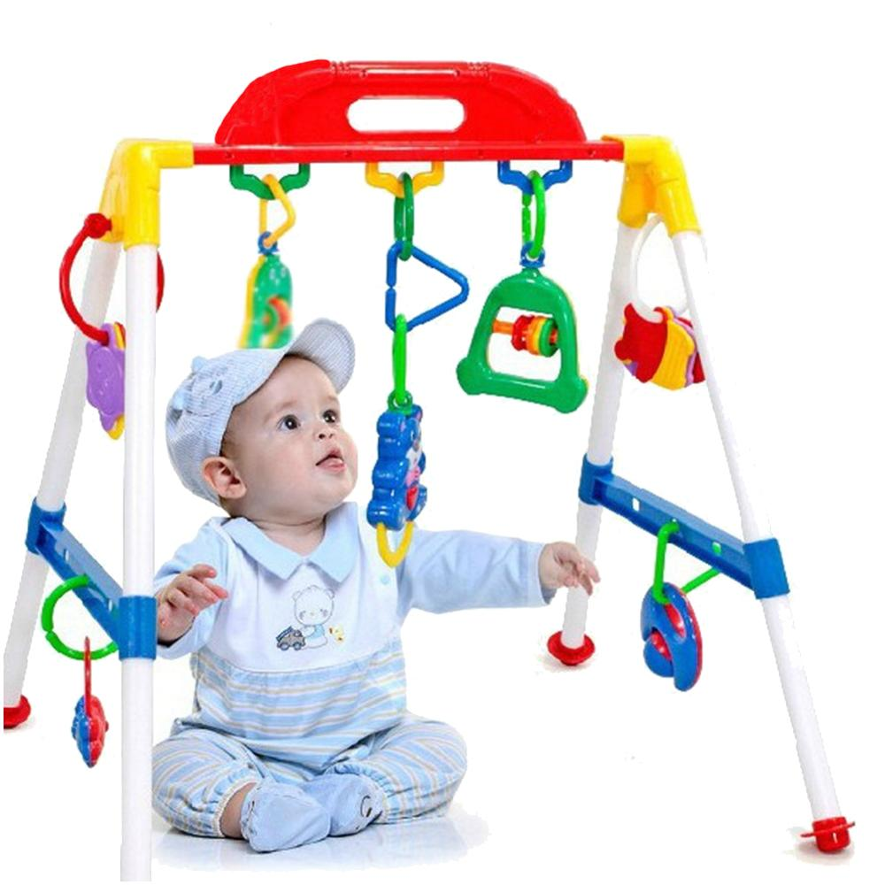 Baby Gym Cross Bar Triangle Round Ring Playgym Toys Educational Kids Xmas Gift Infant Interactive Games Gift For Newborn Baby