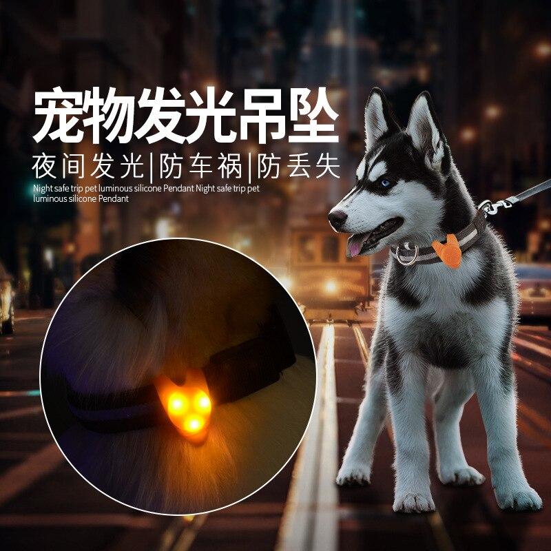 LED Pet Anti-Lost Dog Tag Lamp Dog Light-emitting Pendant Lamp Bichon Teddy Hanging Ornaments Pet Supplies