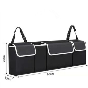 Image 5 - Adjustable Car Trunk Organizer Backseat Storage Bag High Capacity Multi use Oxford Car Seat Back Organizers Automobile Interior