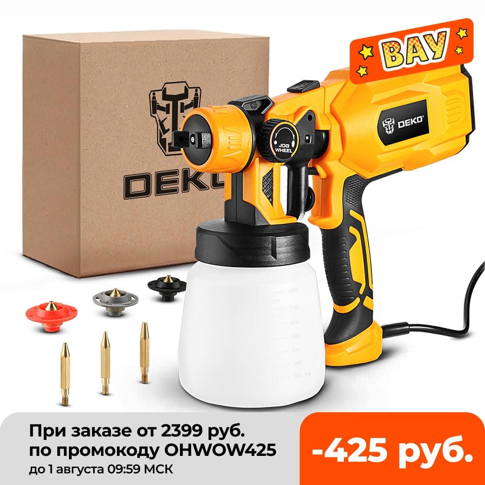 DEKO Spray Gun, 550W 220V High Power Home Electric Paint Sprayer, 3 Nozzle Easy Spraying and Clean Perfect for Beginner Spray Guns  - AliExpress