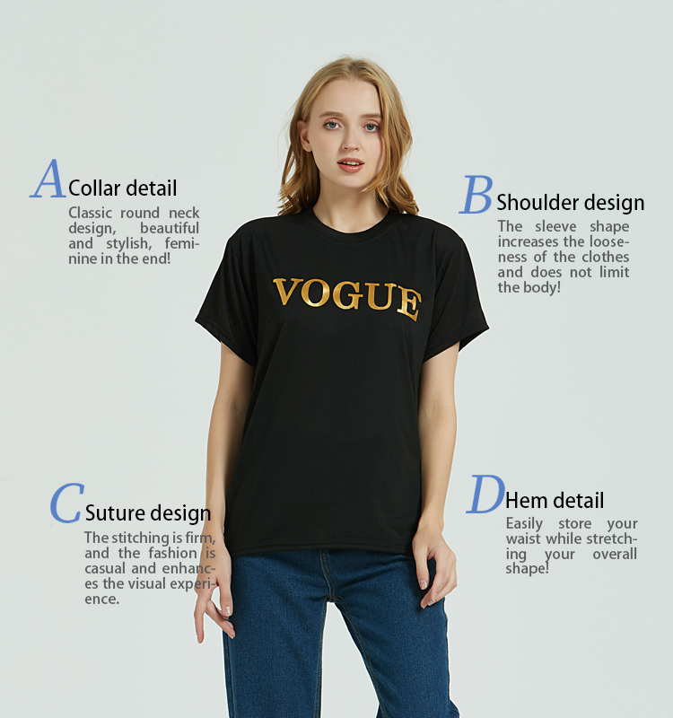 Fashion Brand 19 T-Shirts Print Women T Shirts O-Neck Short Sleeve Summer Tops Tee Trend style Rose Print Vogue clothing 12