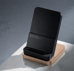 Image 5 - Originele Xiaxiaomi Draadloze Oplader 55W Max Verticale Luchtgekoelde Draadloze Opladen Ondersteuning Snelle Oplader Voor Xiaomi 10 Voor iphone