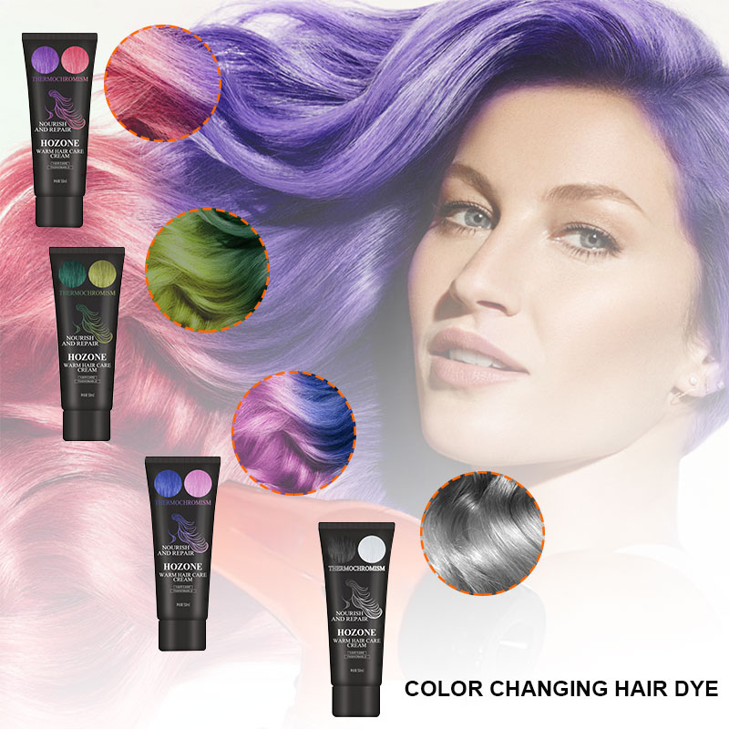 50ml Thermochromic Hair Dye Sexy Women Hair Color Wax Fashion Popular Color Safety No Damage Hair Dyeing Products