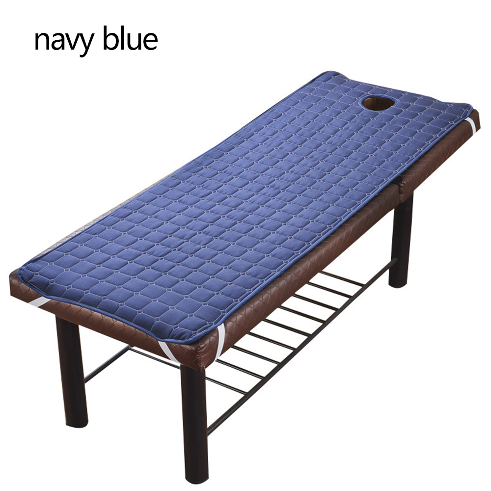 SPA Treatment Bed Cover Solid Color Beauty Salon Massage Table Beds Coverlet Skin-Friendly Massage Sheet With Breath Hole
