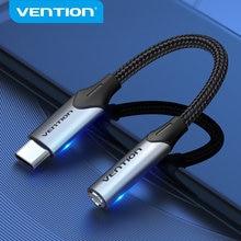 Vention tipi C 3.5 Jack USB C Jack 3.5 AUX kulaklık adaptörü ses kablosu için Xiaomi Mi 10/10 pro 9 Huawei USB-C 3.5mm