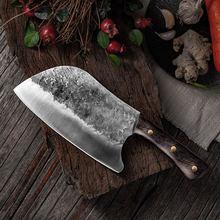 8 дюймовый китайский шеф нож ручной работы кованый для мяса