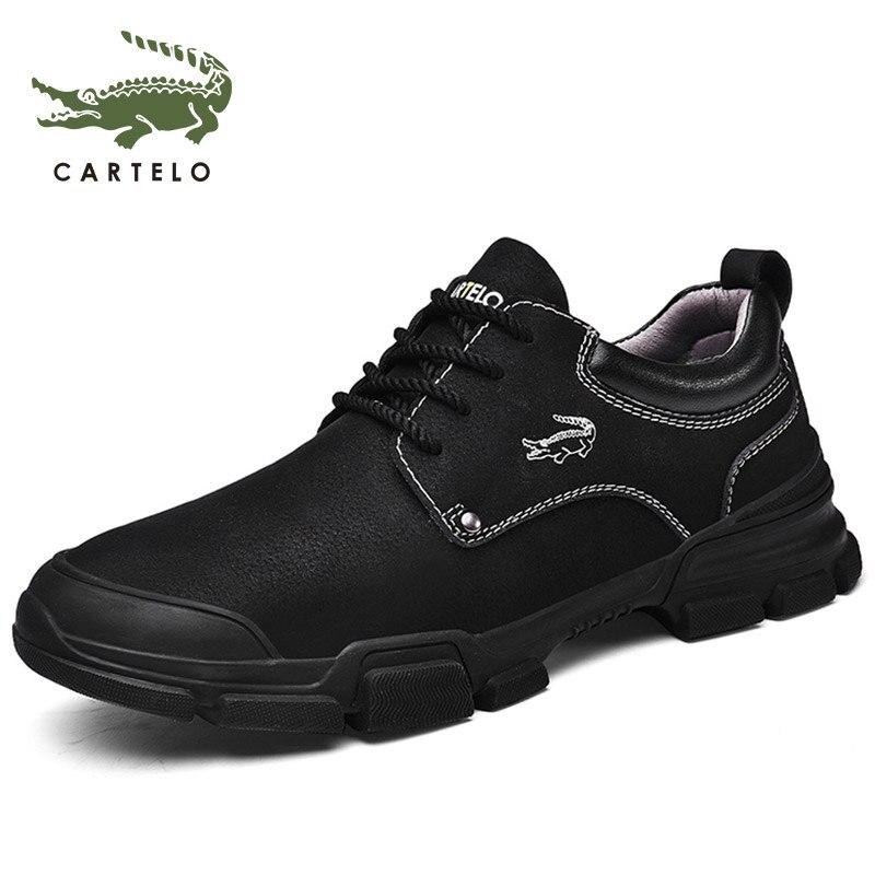 CARTELO Men's Shoes Martin Boots Men's British Wind Short Boots Tooling Boots Men's Trend Retro обувь мужская
