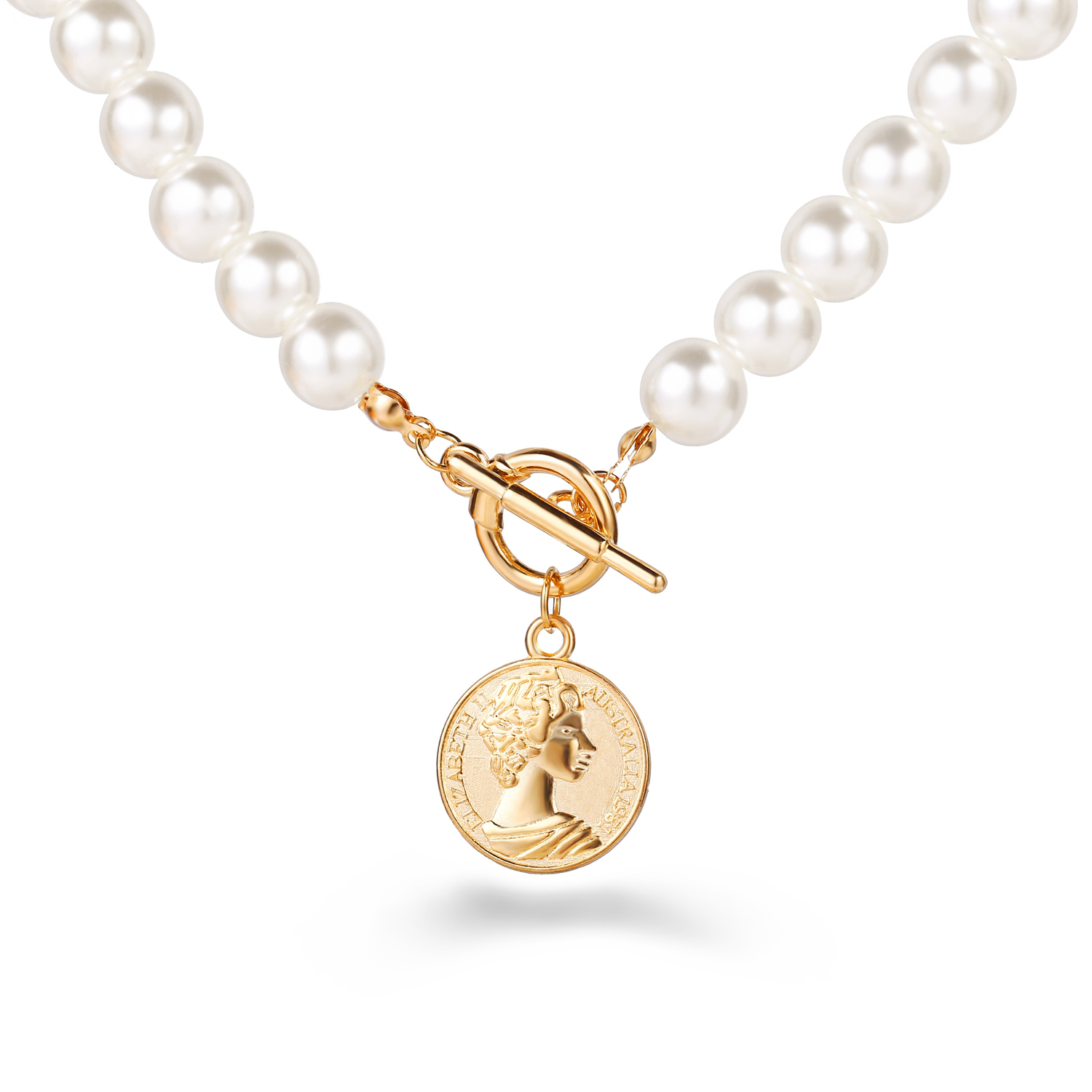 17KM Fashion Multi Layer Lock Portrait Pendants Necklaces For Women Gold Metal Key Heart Necklace New Design Jewelry Gift 5
