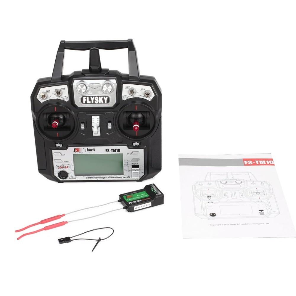Flysky FS TM10 FS i6X 10CH 2.4GHz AFHDS RC Transmitter Radio Model Remote Controller System with FS IA10B Receiver
