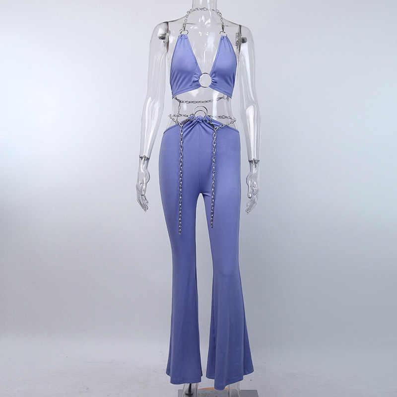 Boofeenaa Seksi 2 Sepotong Celana Set Wanita Dua Sepotong Klub Pakaian Rave Festival Pakaian 2020 Pakaian Wanita Yang Sesuai dengan Set C98-AF20