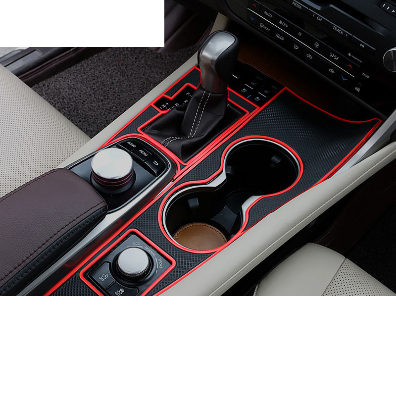 Lsrtw2017 PVC Rubber Car Gear Panel Cup Slot Mat for <font><b>Lexus</b></font> <font><b>Rx200t</b></font> 450h 2016 2017 2018 2019 2020 image