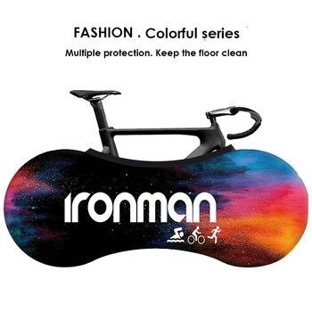 HSSEE coloré série vélo intérieur cache-poussière officiel véritable tissu élastique route vélo couverture mode vélo accessoires