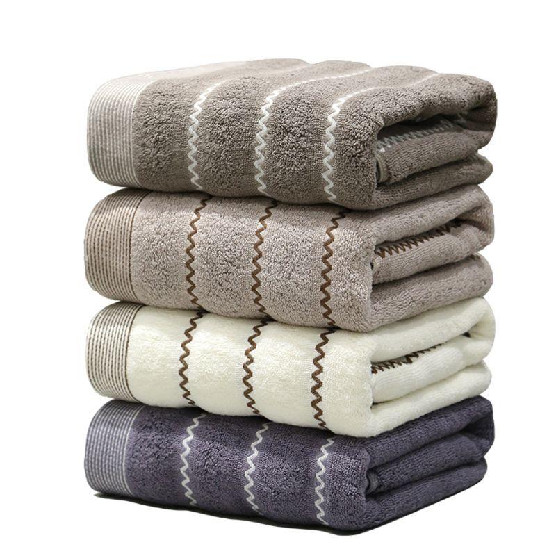 Serviettes de bain serviette imprimée en coton épaissi 32 brins