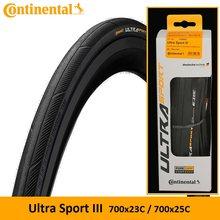 Chambre à air Continental Presta & Continental ULTRA Sport III & Grand Sport Race / Extra 700 × 23C /25C/28C pneu de vélo 42/60mm