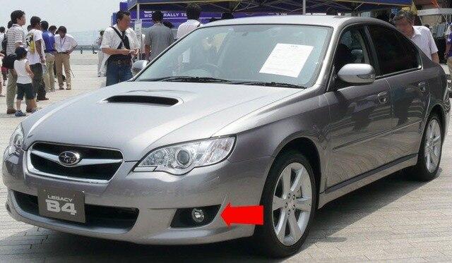 eeMrke LED Angel Eyes DRL For Subaru Legacy Sedan / Wagon 2007 2008 2009 Liberty 2.5i Australia Halogen Fog Light H11 55W DRL