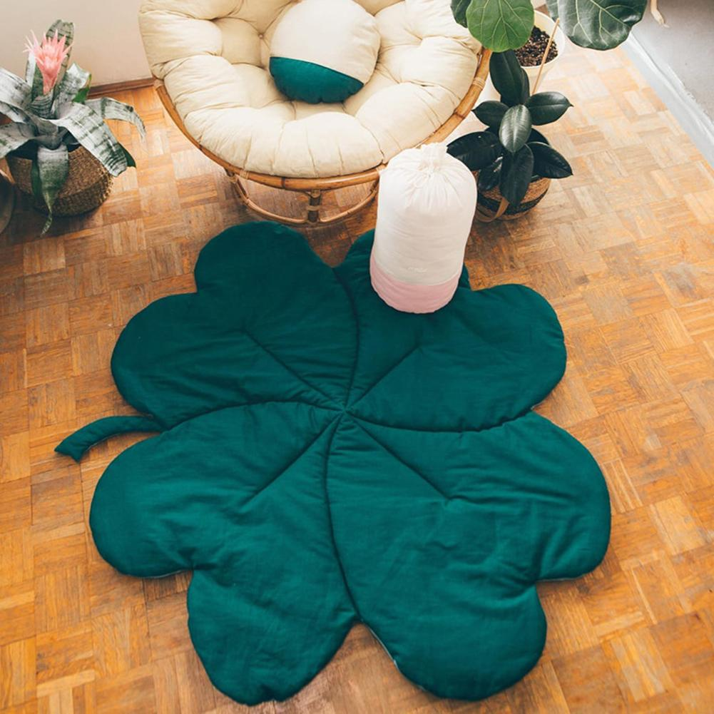 Fashion Clover Leaf Floor Carpet Baby Comfortable Cotton Crawling Safety Play Mat Blanket Kids Room Decor