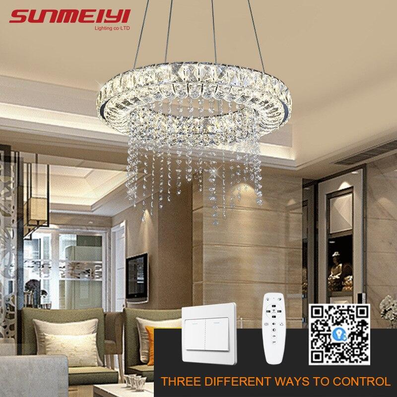 US $136.49 35% OFF|Dimmable LED Chandeliers Modern Crystal Smart Lighting  For Dining room Kitchen Living room Lamp Chandelier lustre industriel on ...