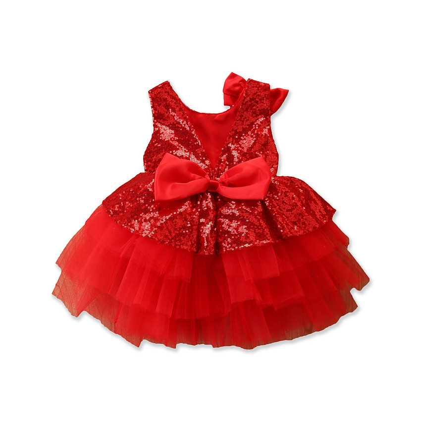 1-5Years/Kids Summer Clothes Baby Girls Dresses Fashion Lace Sleeveless Ball Gown Bow Princess Dress Children Clothing BC1795-1