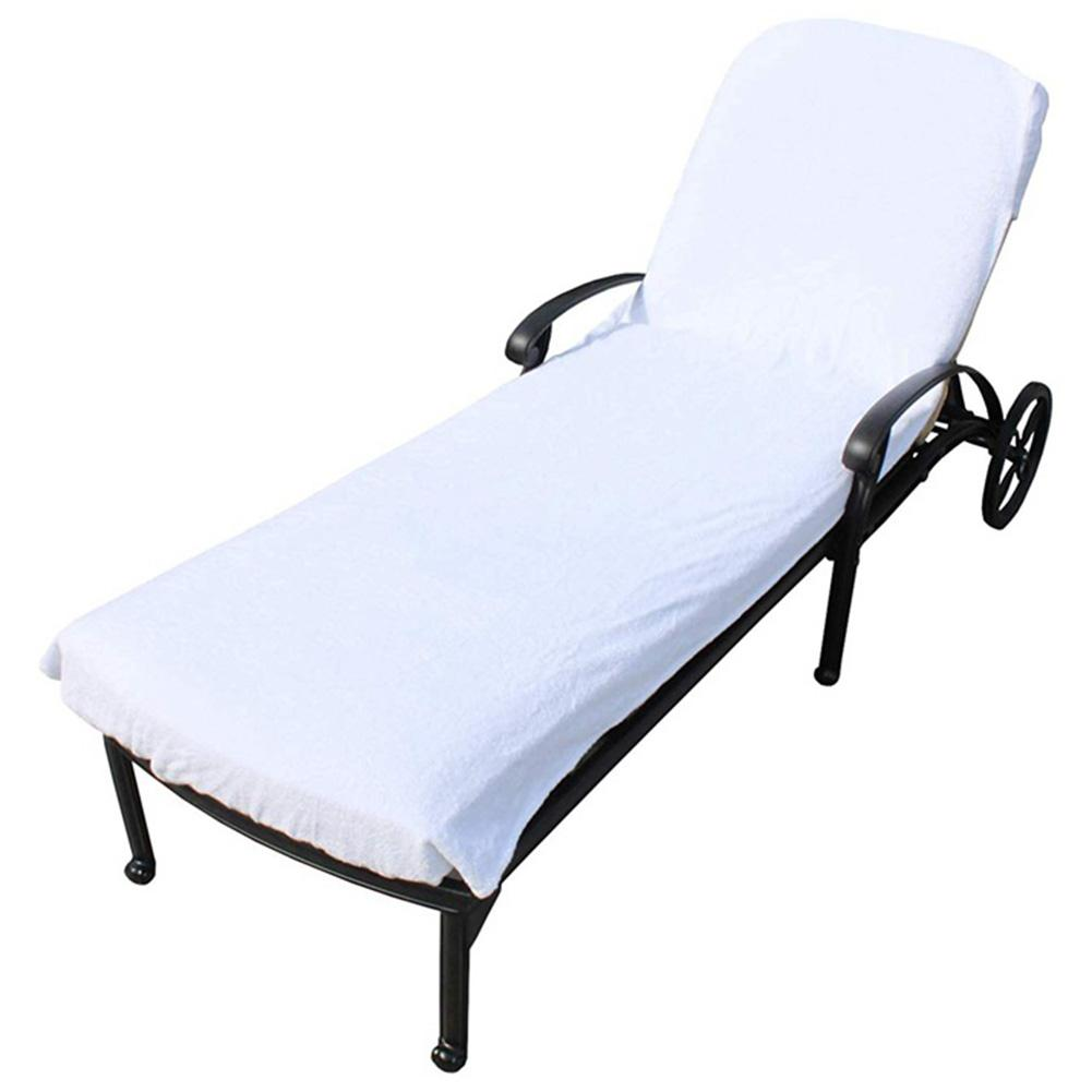 Holiday Beach Lounge Chair Cover Towel Beach Towel Sunbath Lounger Chair Mat Summer Cool Bed Garden With Large Pocket