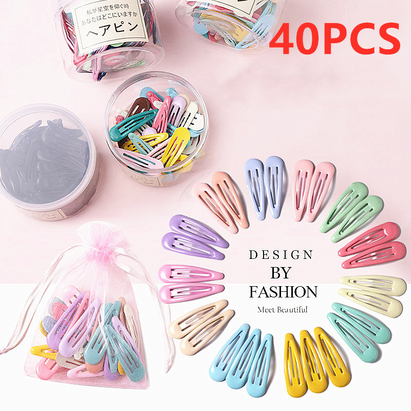 40PCS 5cm Snap Hair Clips For Baby Children Hair Clip Pins BB Hairpin Color Metal Barrettes Women Girl Styling Accessories|Hair Clips & Pins| - AliExpress