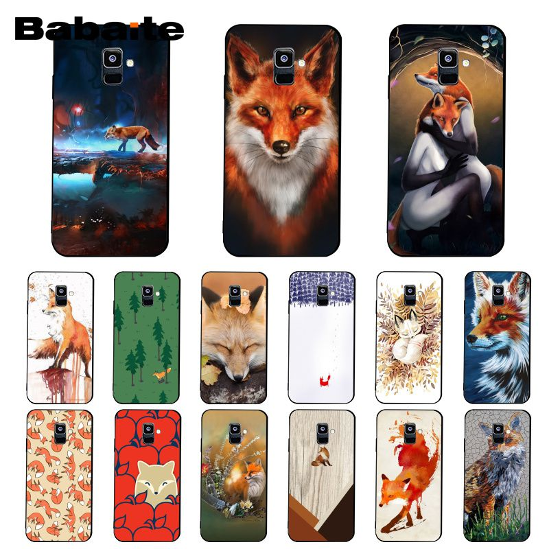 Babaite Animal Fox in the wild <font><b>Wood</b></font> Phone <font><b>Case</b></font> For <font><b>Samsung</b></font> <font><b>Galaxy</b></font> A7 A50 A70 <font><b>A40</b></font> A20 A30 A8 A6 A8 Plus A9 2018 image